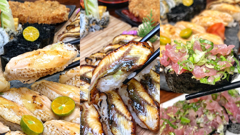 台南平價日式料理【小川壽司】炙燒鮭魚/鰻魚握壽司 6貫只要120元 !? 高CP值便宜又好吃