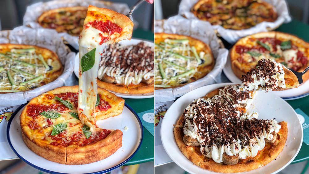 起司控在哪 !【手在比薩】超牽絲起司畫面超邪惡 ! 口味高達20多種 ! 鮮蚵、提拉米蘇口味讓你打破對披薩的傳統印象  嘉義美食|嘉義火車站