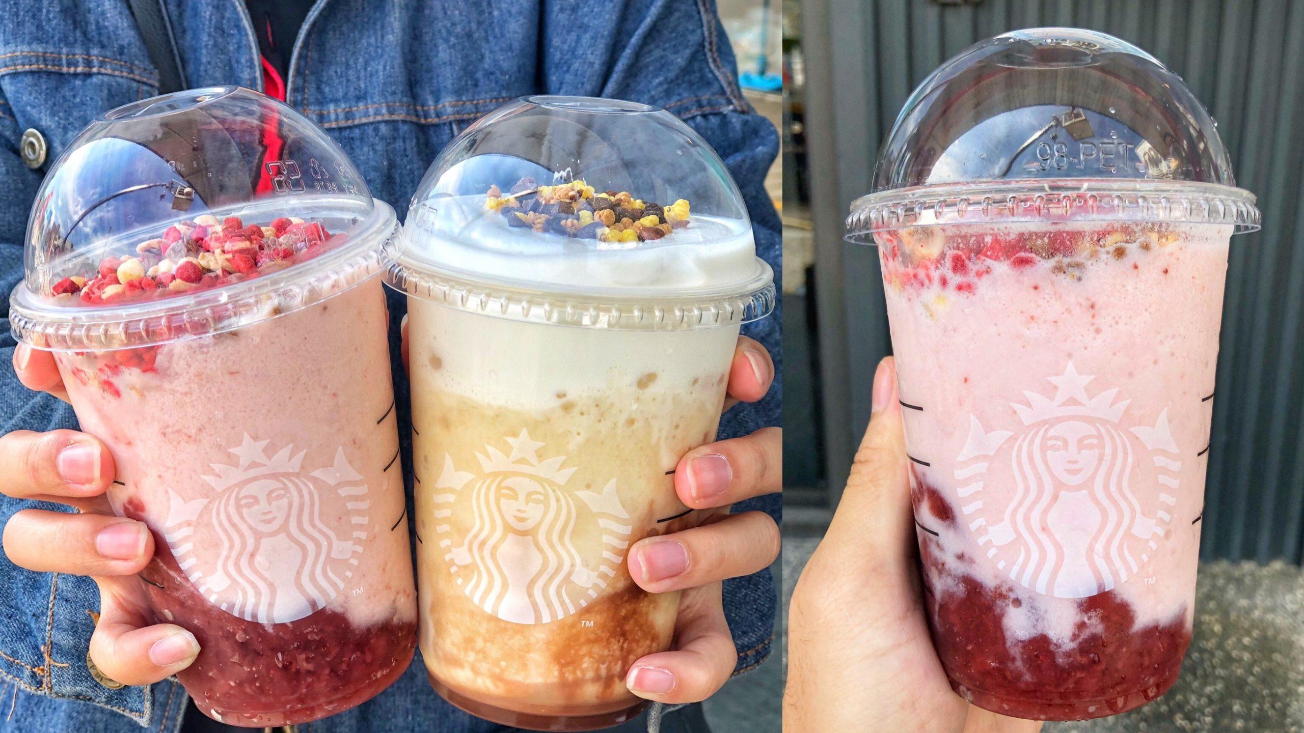 星巴克新推出夢幻新品「草莓脆片優格星冰樂、鹹焦糖冷萃咖啡」父親節88折|外送第二杯半價|內文附星巴克菜單