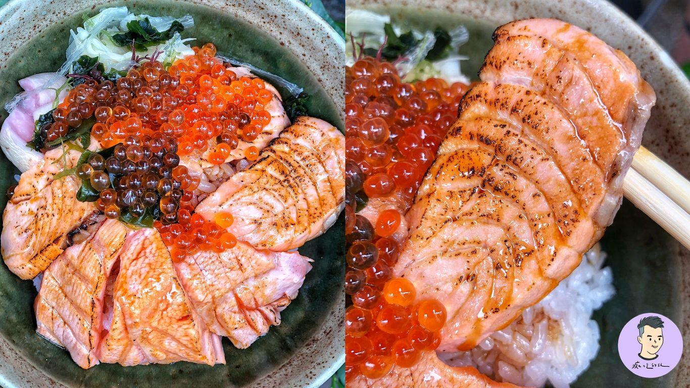 【台南美食】鮭魚控快收藏!這間炙燒鮭魚+鮭魚卵丼飯 竟只要200元!隱藏在市場的日式料理 – 有間壽司丼|南區美食