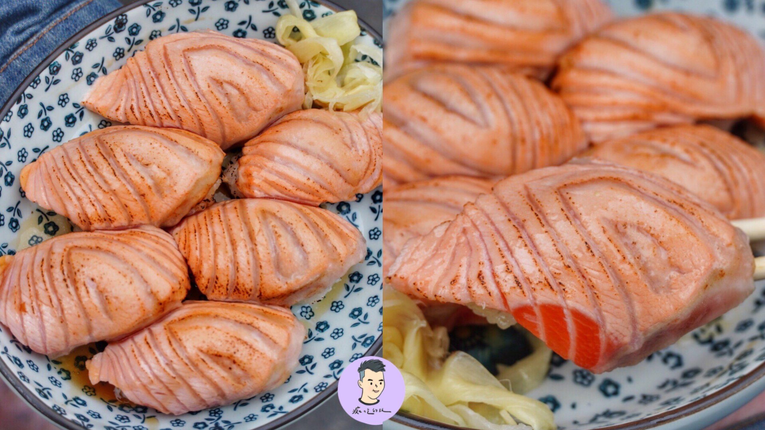 【台南美食】台南經典老字號路邊攤日料「橋壽司」炙燒鮭魚握壽司好大貫 – 中西區美食|炙燒鮭魚