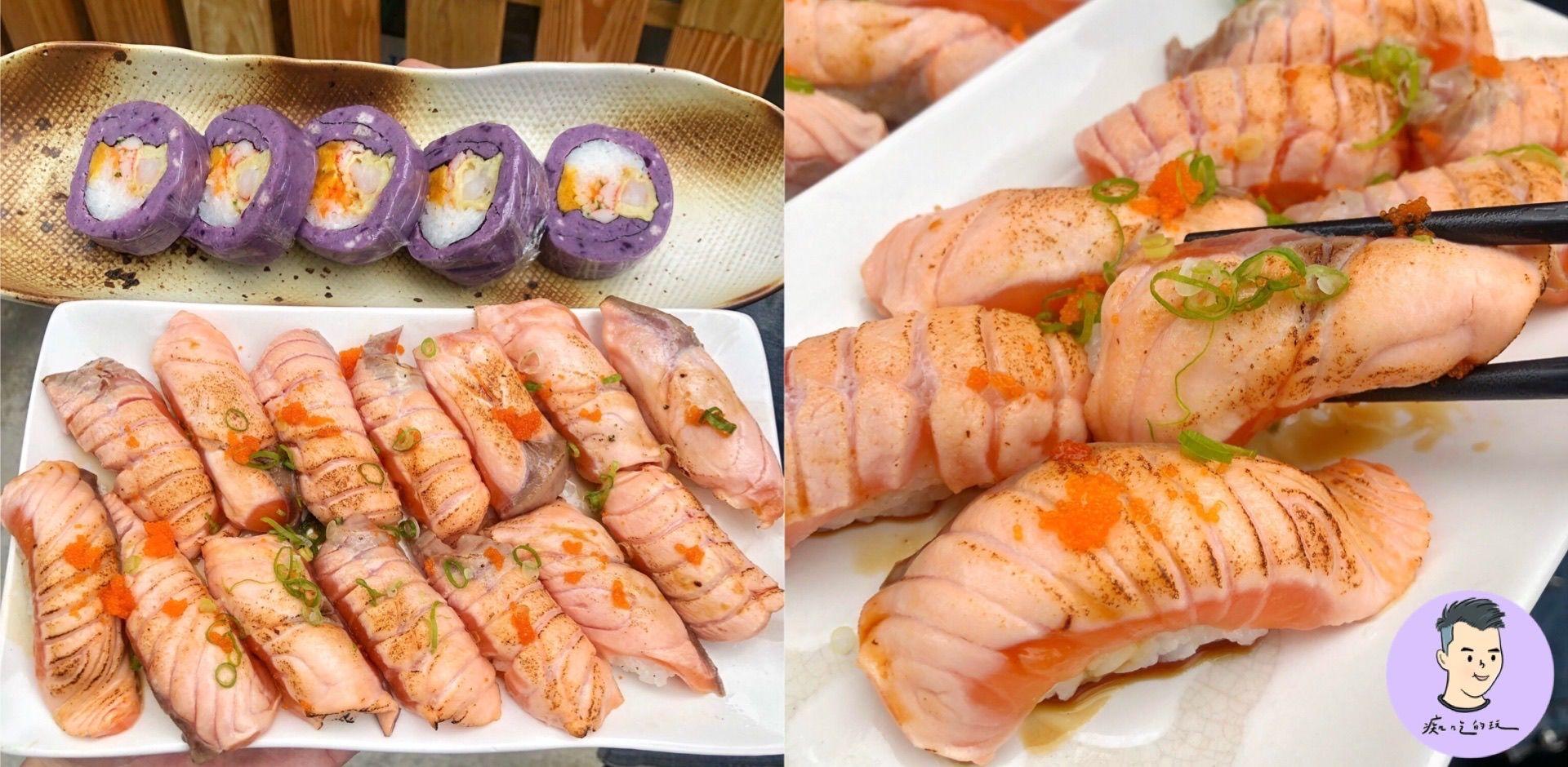 台南低調高人氣日料店【好食殿食堂】炙燒鮭魚握壽司8貫限時200元!升級加量還降價!選擇多平價大份量cp值超高